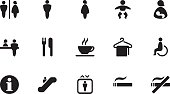 A collection of Public places icons, in various sizes and formats: