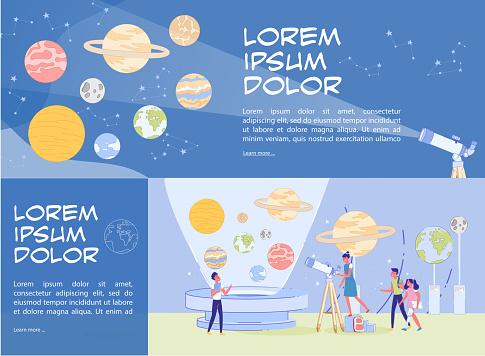 Public Planetarium Presentation Header Banner Set
