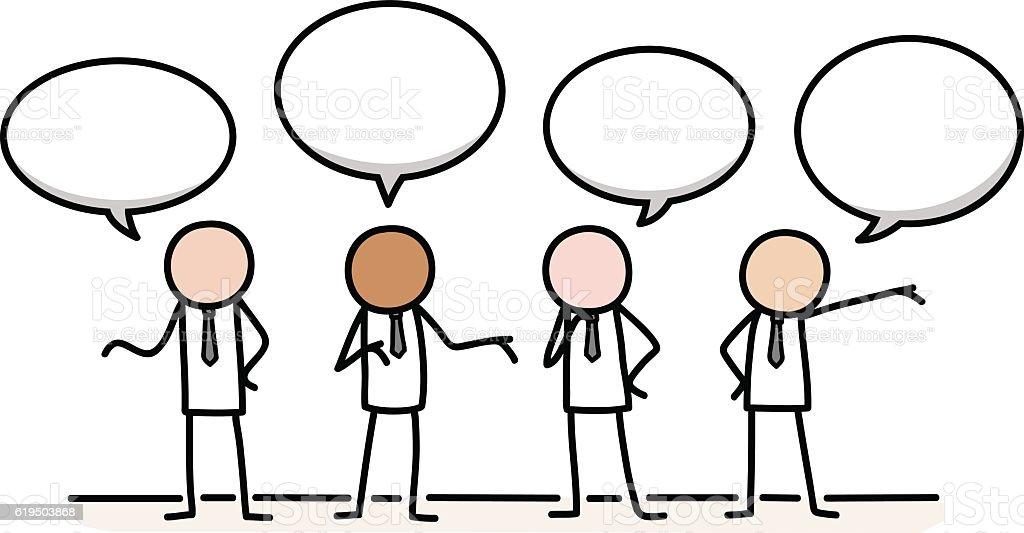 Public Relations Communication Concept - Illustration vectorielle