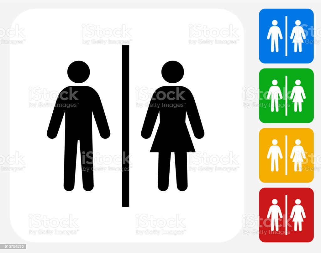 Public Restroom Sign. vector art illustration