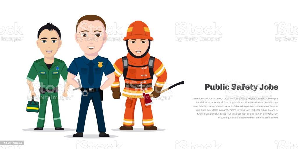 公安の仕事 ベクターアートイラスト