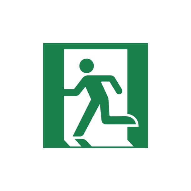 public safety sign (pictogram) / Emergency exit public safety sign (pictogram) / Emergency exit exodus stock illustrations