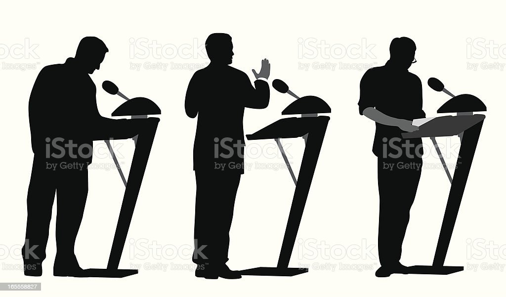 Public Speakers Vector Silhouette royalty-free stock vector art