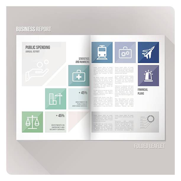 public spending layout template stock vector art 520535739 istock