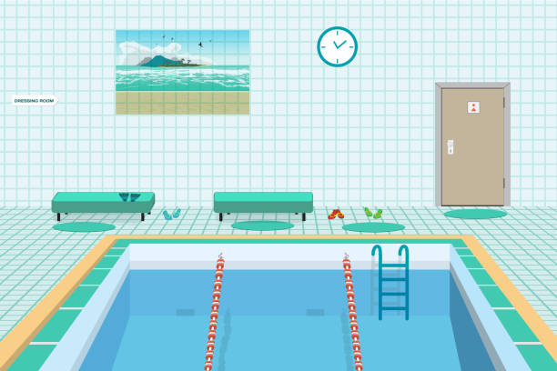 Royalty Free Olympic Swimming Pool Clip Art, Vector Images ...