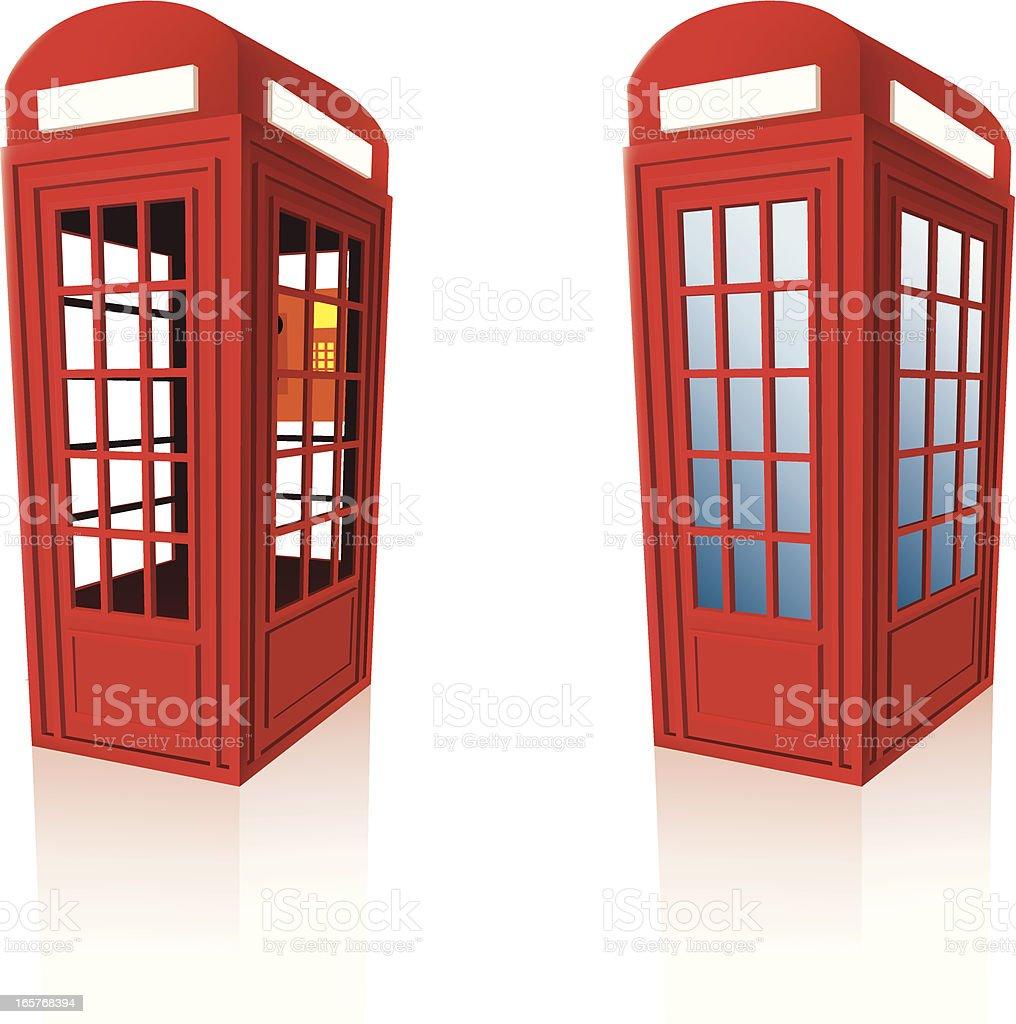 public telephone box royalty-free stock vector art
