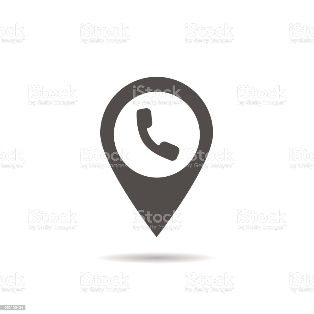 Public telephone location icon vector art illustration