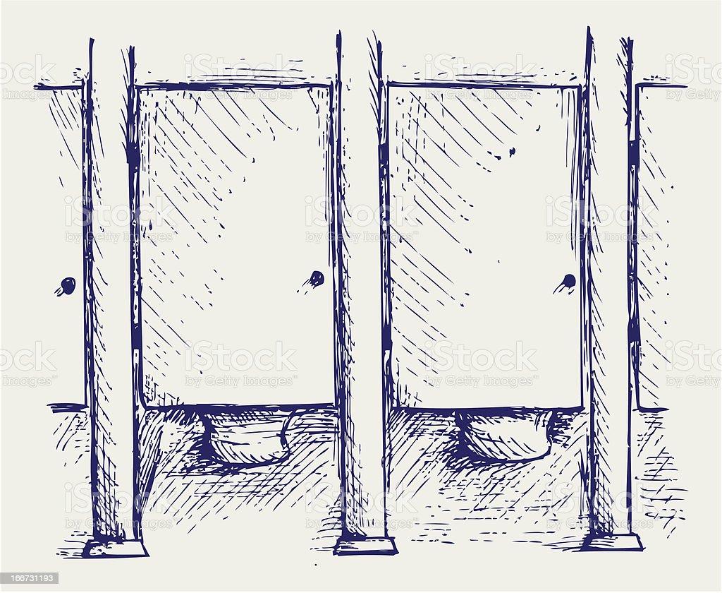 Public Toilet royalty-free public toilet stock vector art & more images of bathroom