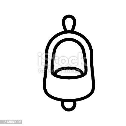 istock public toilets for male users  vector Icon design, Waterless ceramic urinals  with deodorizer Concept,   urination sanitary plumbing fixture on white background, 1313959296