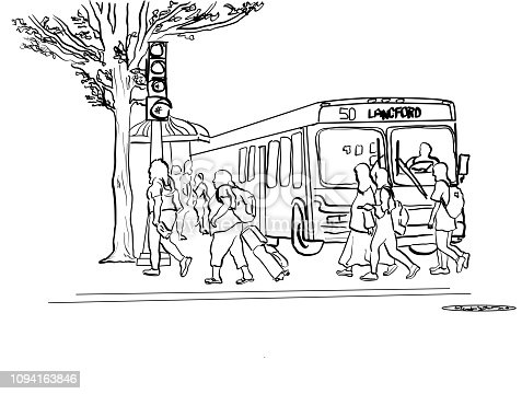 istock Public Transit And Pedestrians 1094163846