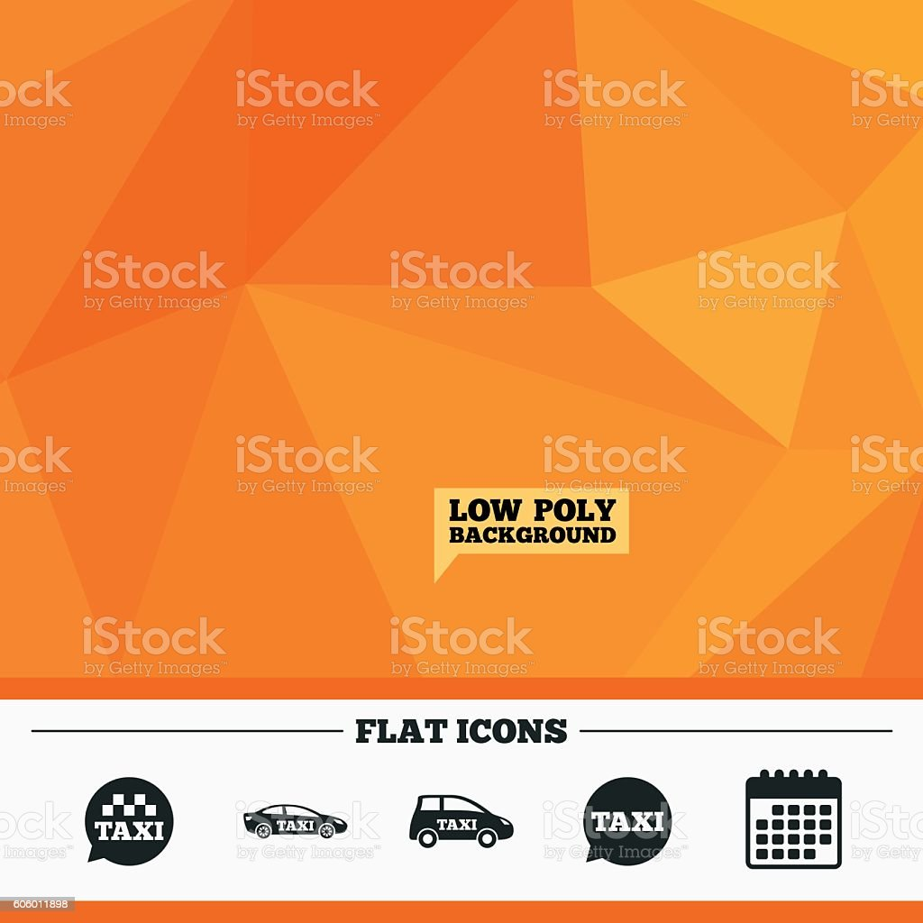 Public transport icons. Taxi speech bubble signs vector art illustration