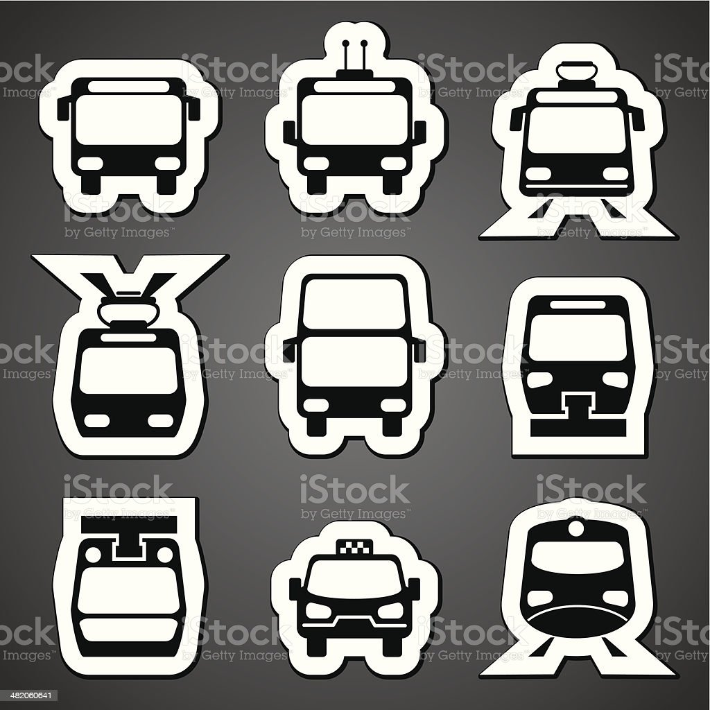 public transport label royalty-free stock vector art