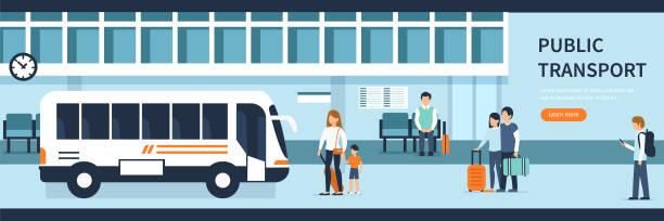 öffentliche verkehrsmittel - tour bus stock-grafiken, -clipart, -cartoons und -symbole