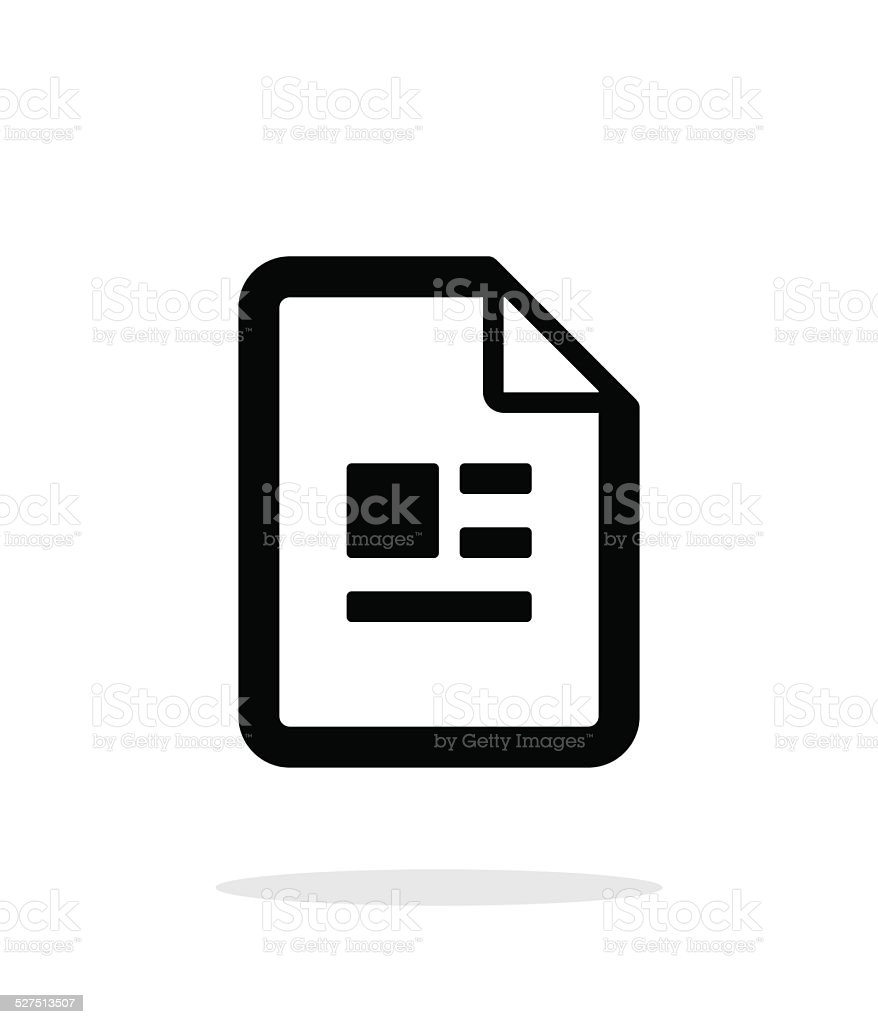Publication file icon on white background. vector art illustration