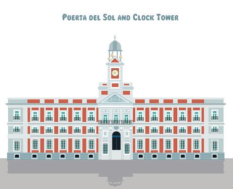 Puerta del Sol and Clock Tower