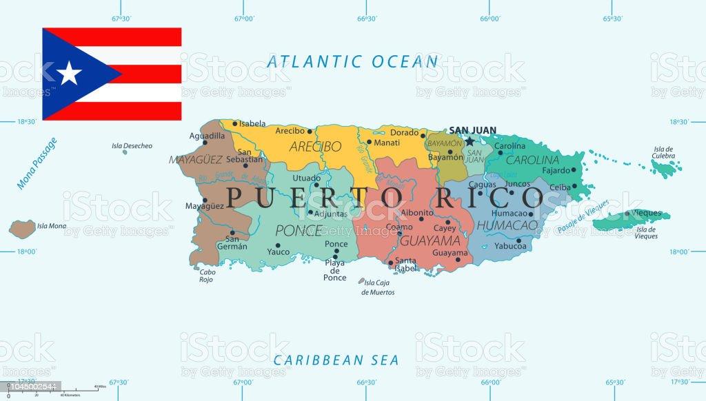 Puerto Rico Mapa Mundi.Ilustracion De 28 Puerto Rico Color2 10 Y Mas Vectores Libres De Derechos De Aguadilla