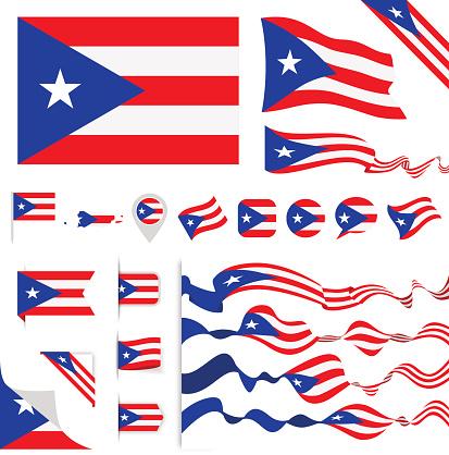 Puerto Rico Flag Set