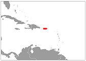 Puerto Rico map on gray base