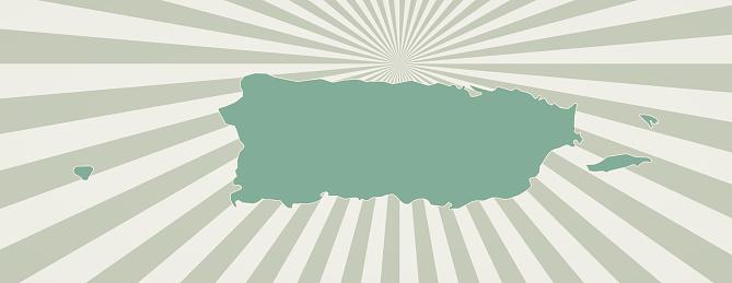 Puerto Rico map.