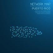 Puerto Rico network map.