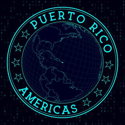 Puerto Rico round sign.