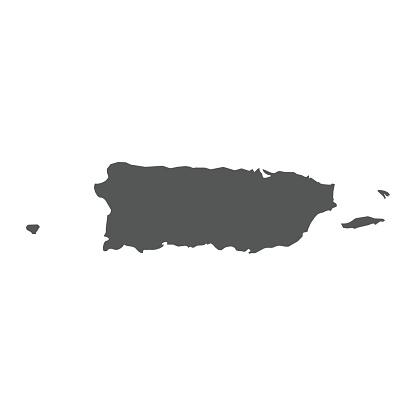 Puerto Rico vector map.