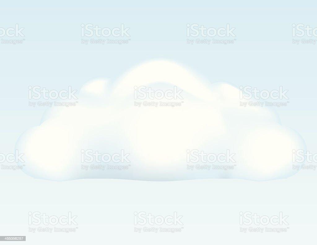 Puffy Cloud royalty-free stock vector art