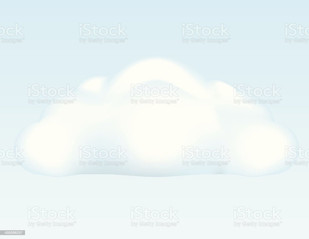 Puffy Cloud vector art illustration