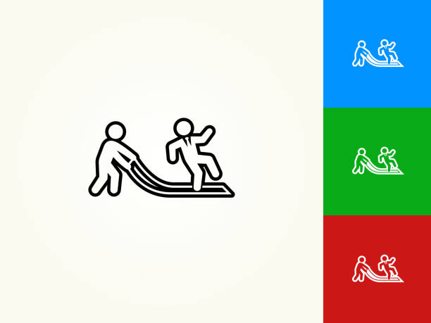 teppich-schwarzer strich lineare symbol gezogen - vertrauensbruch stock-grafiken, -clipart, -cartoons und -symbole