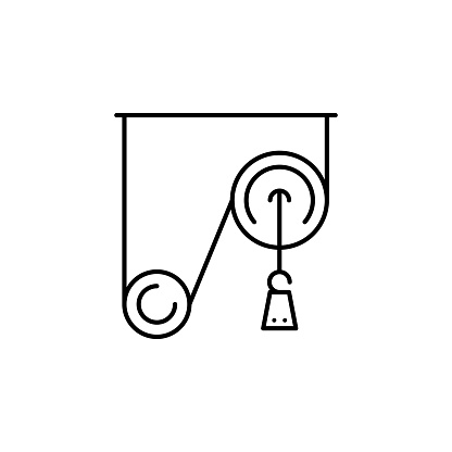 Pulley Weight Icon Element Of Physics Science For Mobile Concept And