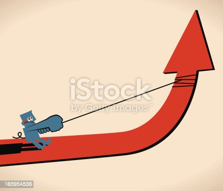 istock Pulling Up an Arrow 165954536