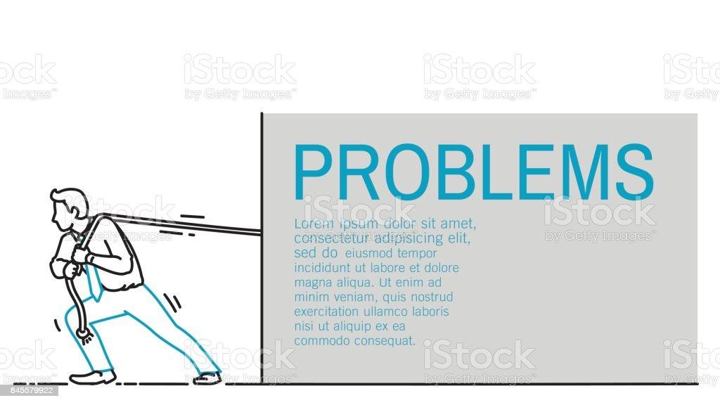 pullingrope vector art illustration