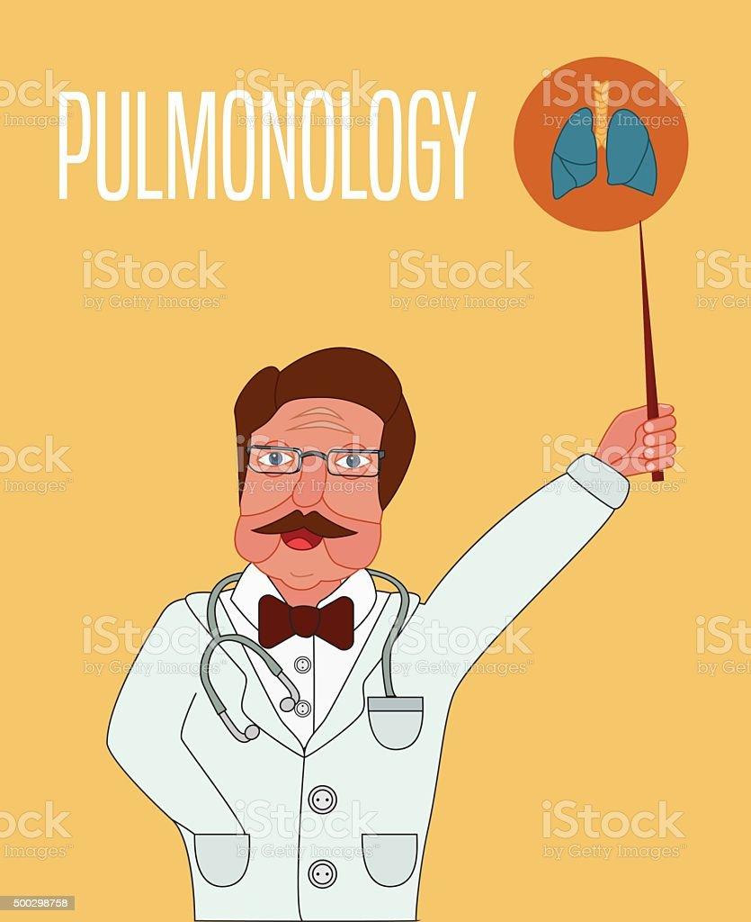 Pulmonology Conceptual Illustration Doctor Explains Lung Structure