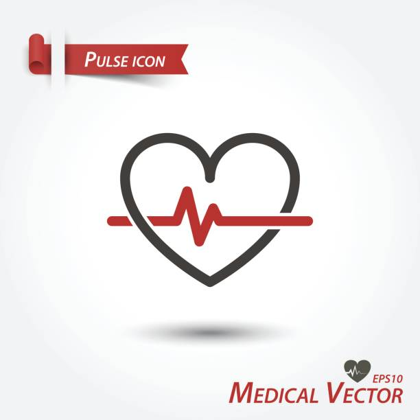 Pulse icon . Medical vector . vector art illustration