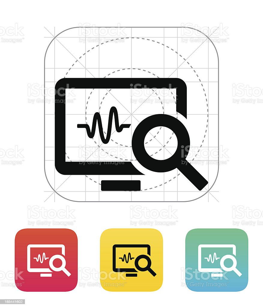 Pulse monitoring icon. royalty-free stock vector art