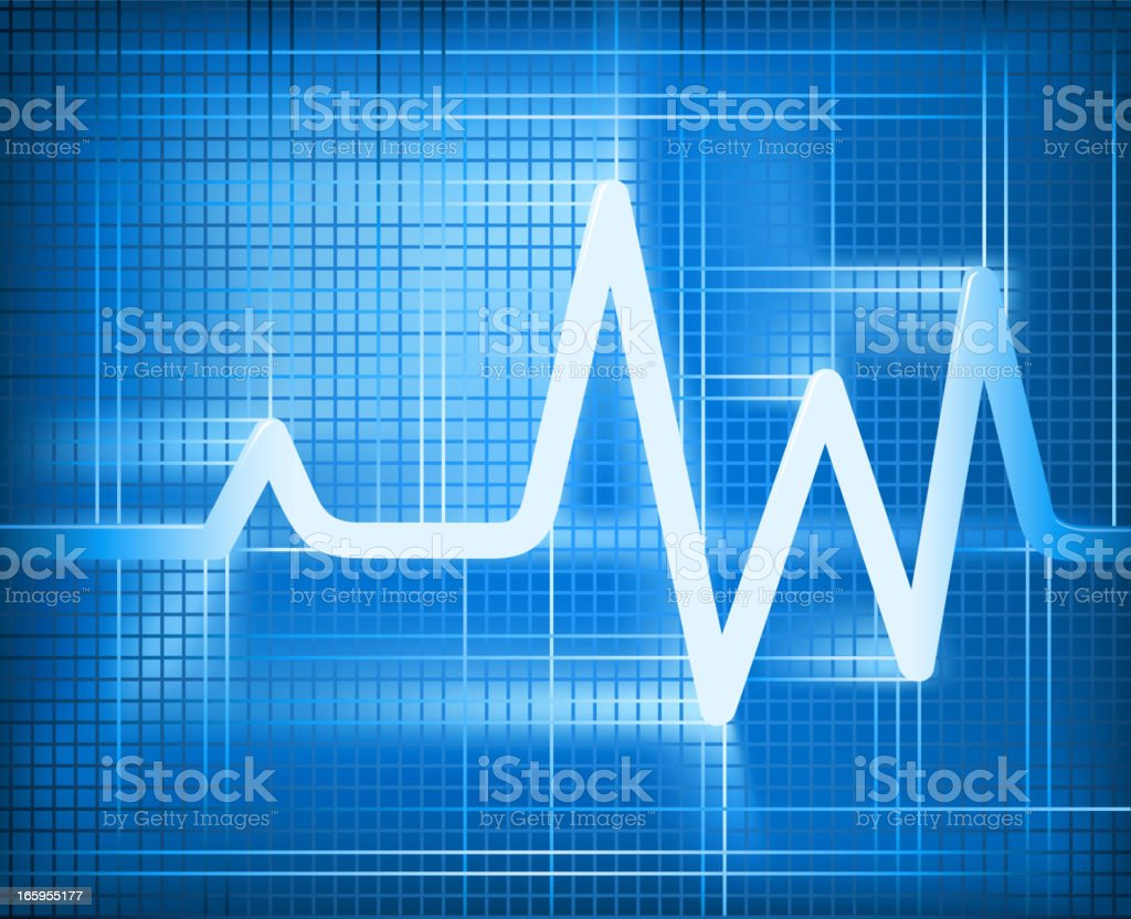 pulse trace royalty-free stock vector art