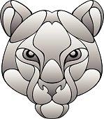 Puma head on a white background