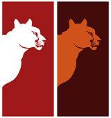 Puma profile clip art