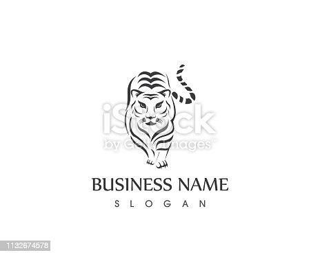 Puma tiger icon vector illustration