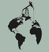 Vector work symbolizing world oil production