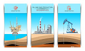 Pump Jack, Drilling Rig and Refinery Brochure Graphic Design