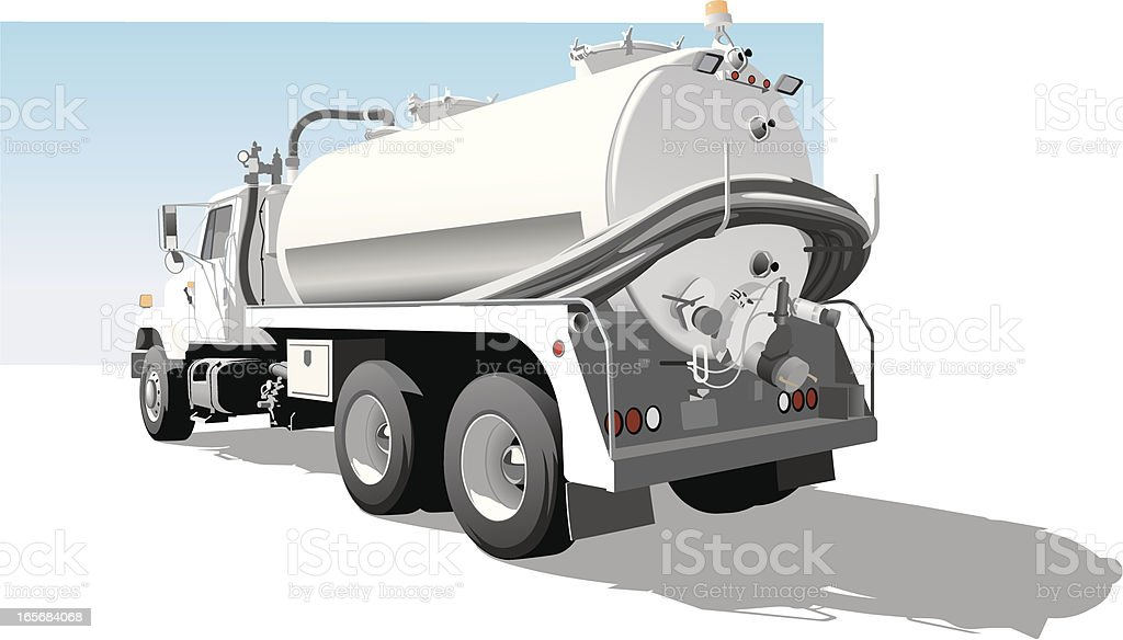 Pump Truck vector art illustration