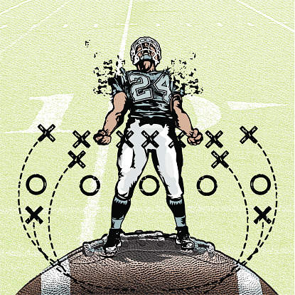 Pumped Up Football Player