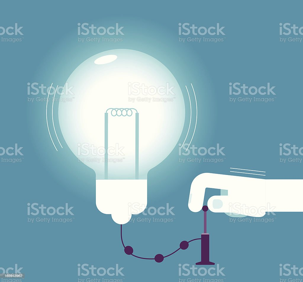 Pumping big idea royalty-free pumping big idea stock vector art & more images of above