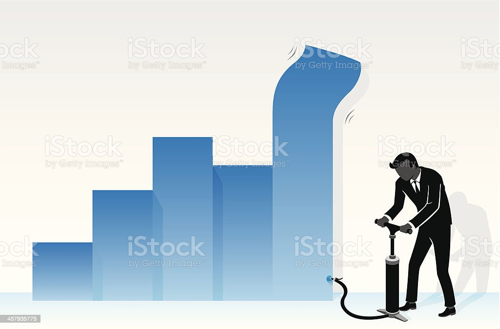 Pumping Economy royalty-free stock vector art