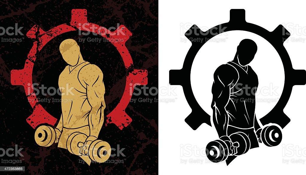 Pumping iron royalty-free stock vector art