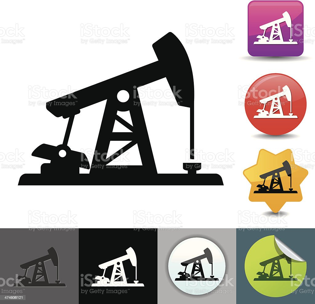 Pumpjack icon   solicosi series royalty-free pumpjack icon solicosi series stock vector art & more images of clip art