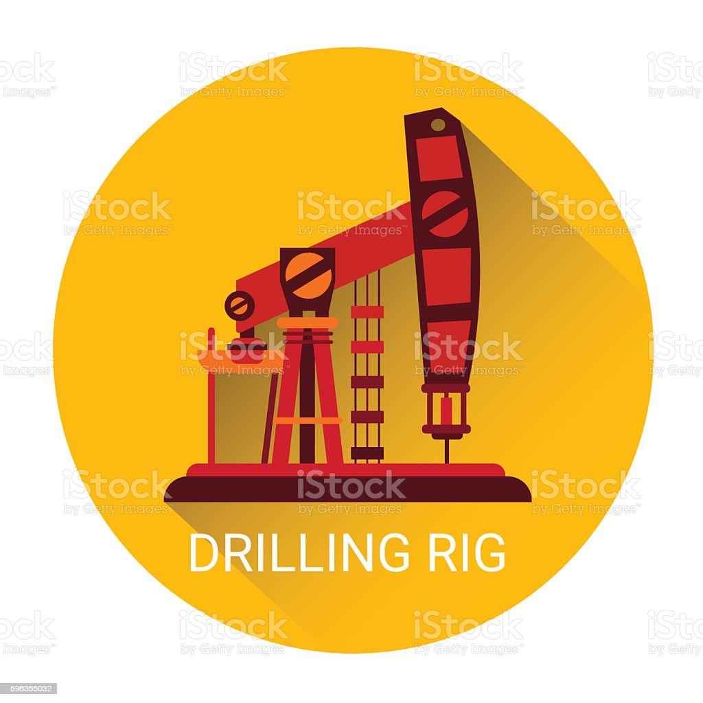 Pumpjack Oil Rig Crane Icon royalty-free pumpjack oil rig crane icon stock vector art & more images of business