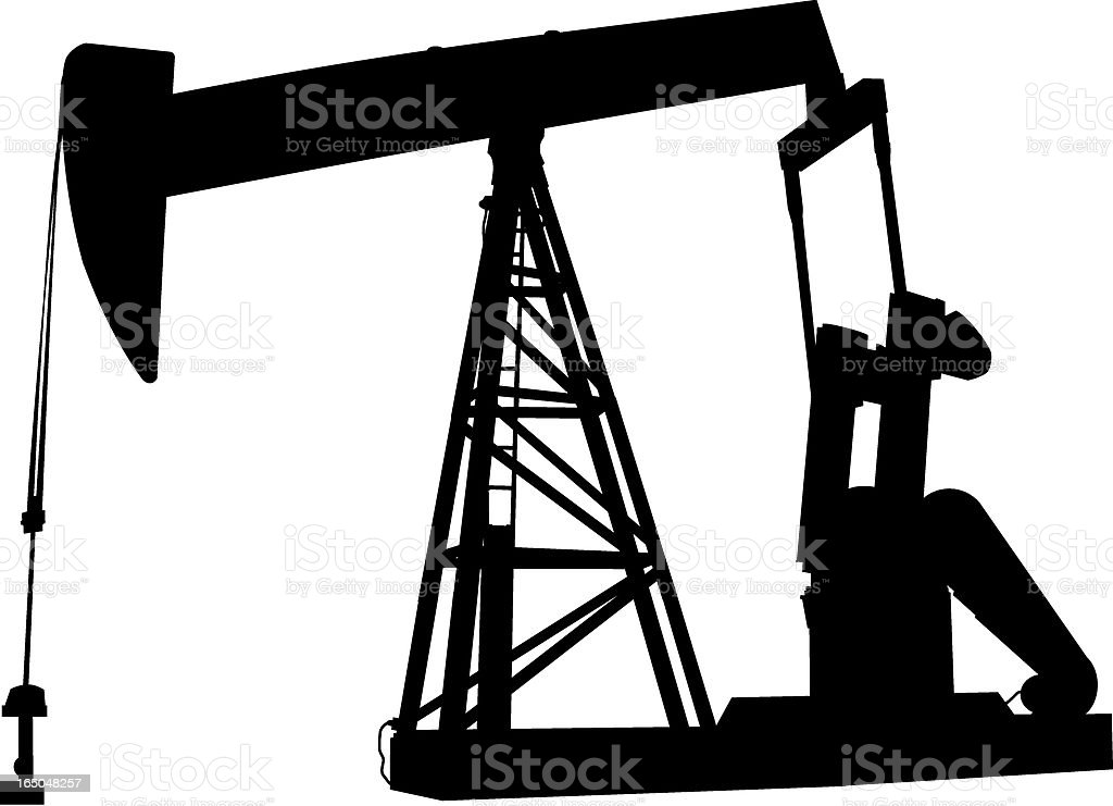 Pumpjack (Vector) royalty-free pumpjack stock vector art & more images of black color