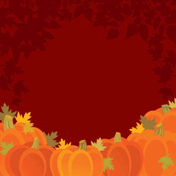 Pumpkin Background vector art illustration